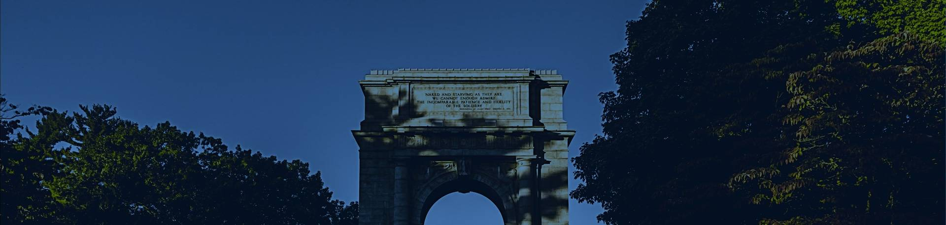 Arch at Valley Forge National Park, 8 miles away from Hibu's King of Prussia office